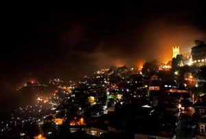 shimla-in-night
