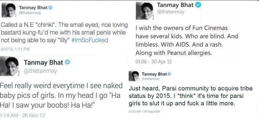 Tanmay's controversial tweets