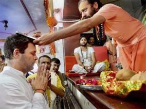 Rahul Gandhi in Gujarat temple